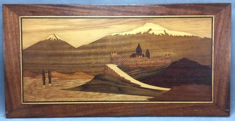 Large inlaid wood Backgammom board