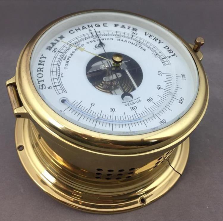Schatz and Sohne brass precision barometer, made in West Germany