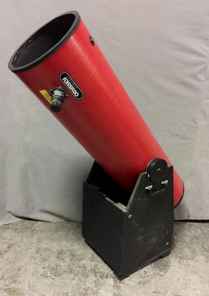 Odyssey Compact telescope set on custom swivel stand