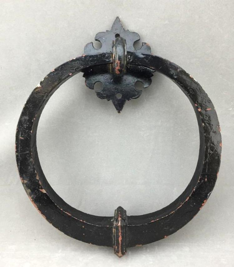 Large 1920s Japanese wrought iron door knocker