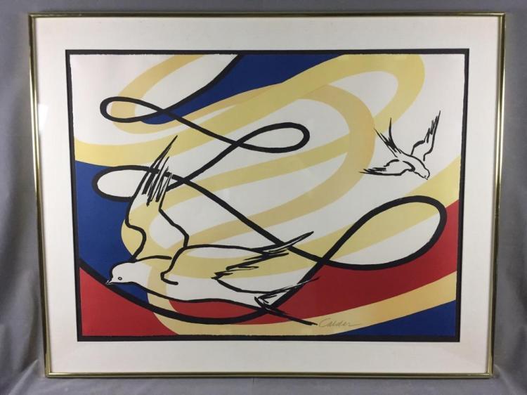Stunning  signed Alexander Calder