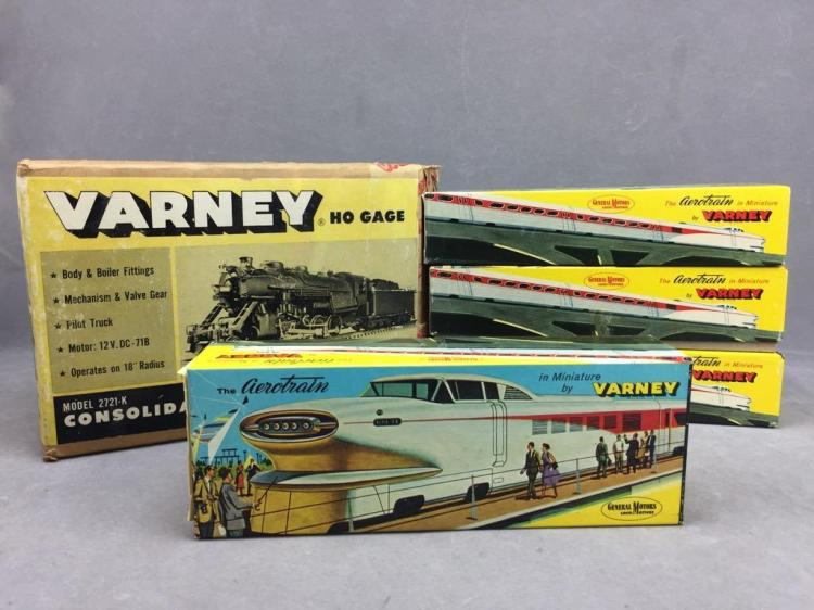 New Old Stock box of (4) Varney heavy consolidation locomotive kit with tender, HO gage