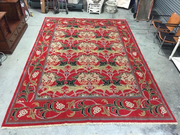 Very large Turkish Ushak serapi rugs