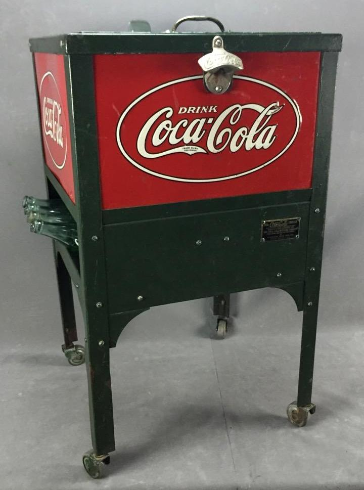Rare 1931 Junior model Coca-Cola cooler made by Glascock Bros. Co. in all original condition