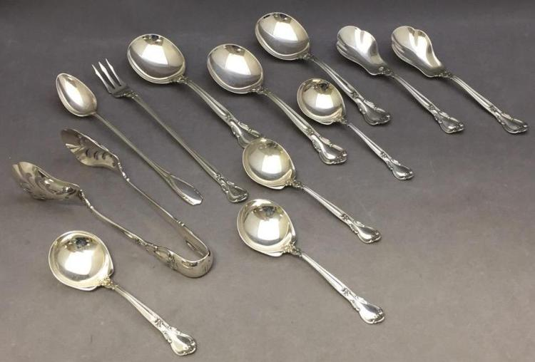 12) Sterling silver Gorham dinnerware pieces, 382.4g