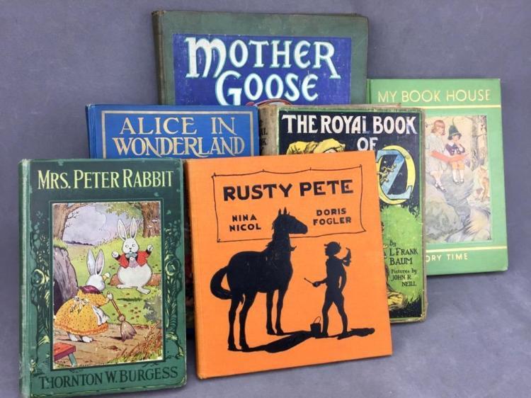 (6) Vintage children's storybooks