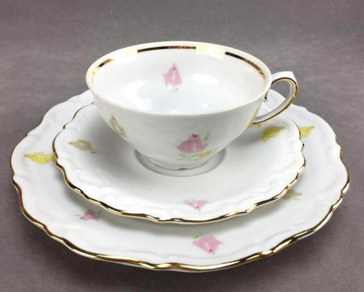 (6) Winterling Bavarian China teacup plate and saucers