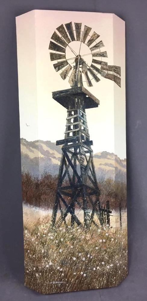 Windmill acrylic painting