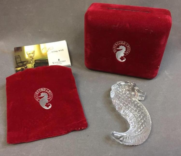 Waterford Seahorse figurine w/ original box & paperwork