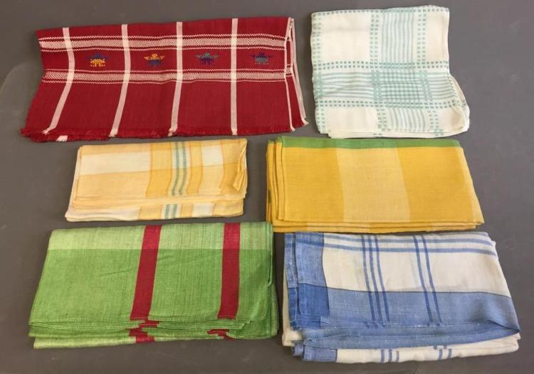 Early 1950s Hand-woven Guatemalen bridge table covers