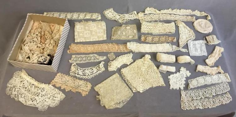 Beautiful assorted lace trim and scraps