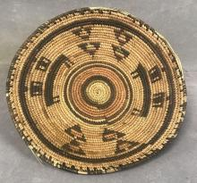 Early native hand-woven basket