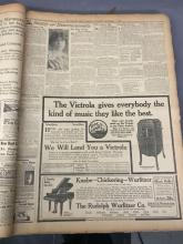 September1913 Newspaper archives from the Chicago tribune and reproduction historical documents on