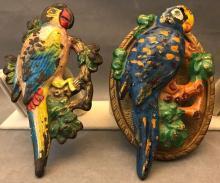 Antique Hubley cast-iron parrot door knocker and drapery tieback