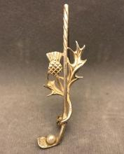 Vintage Scottish thistle golf club pen with seed pearl