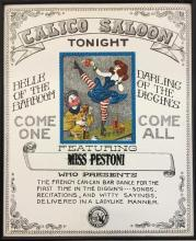 Vintage 1970s Engraving Knotts Berry farm advertisement poster