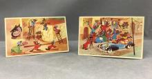 (2) Vintage Walt Disney's Cinderella postcards from Belgium