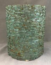 Handmade vintage Glass & Wire shade