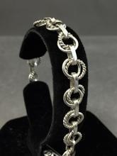 Sterling silver chain link bracelet, 20.9 g