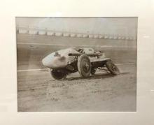 1930s Photograph of Kansas City race car wreck, titled