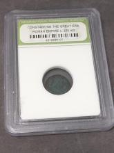 Roman Coin w/ Constantine the Great, c.330 AD