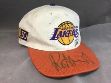 Autographed LA Lakers adjustable cap, signed
