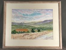 Pastel painting on paper signed Currie