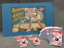 Vintage Circus Ephemera: to include a Barum & Bailey Lithograph advertisement poster