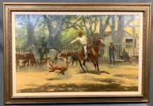 California estate auction of Cowboy Art, Spurs, Native American jewelry