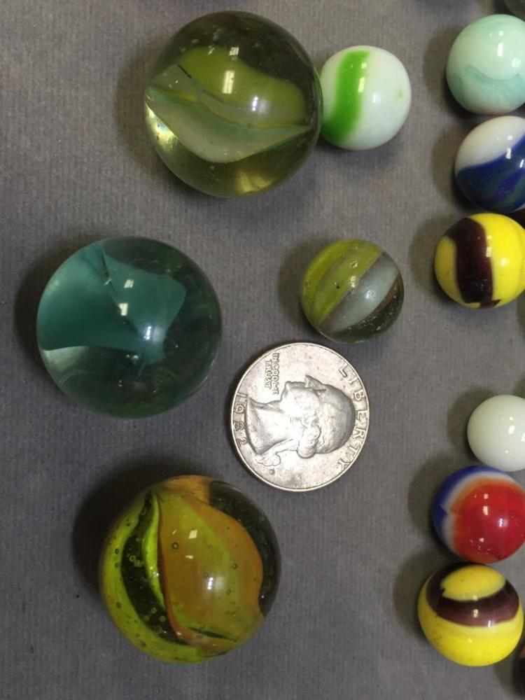 159 Vintage Akro Agate Amp Glass Marbles