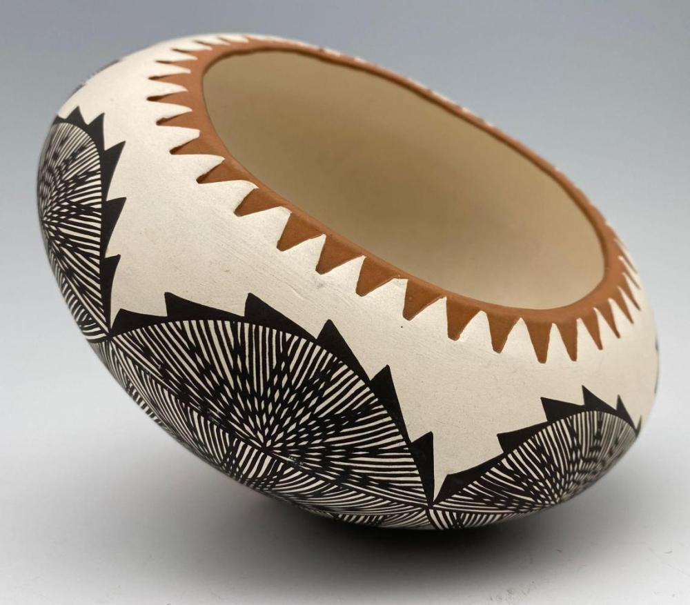 R Garcia Acoma Pot With Modernist Geometric Design