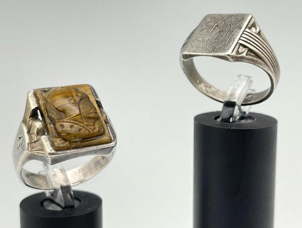 2 Older Sterling Silver Men's Rings