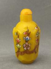 Chinese hand-painted enamel Peking glass snuff bottle