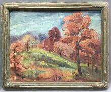 Margaret E. Rogers landscape oil painting on canvas on board