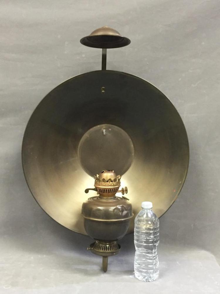 Wall Oil Lamps : Brass wall mounted oil lamp