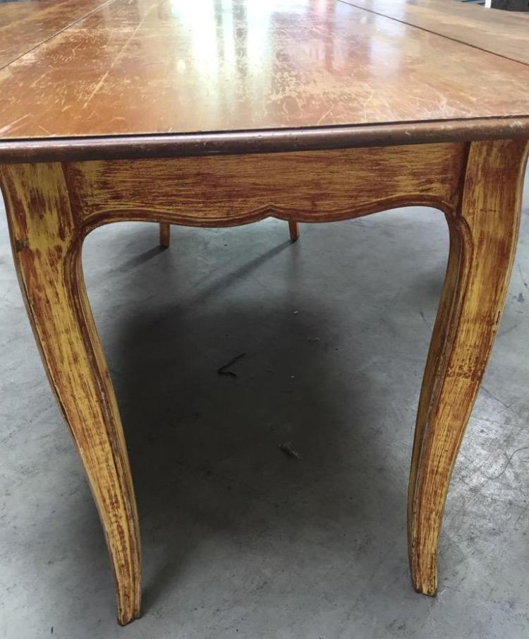 Drop leaf maple table w metal extension brackets for Drop leaf extension table