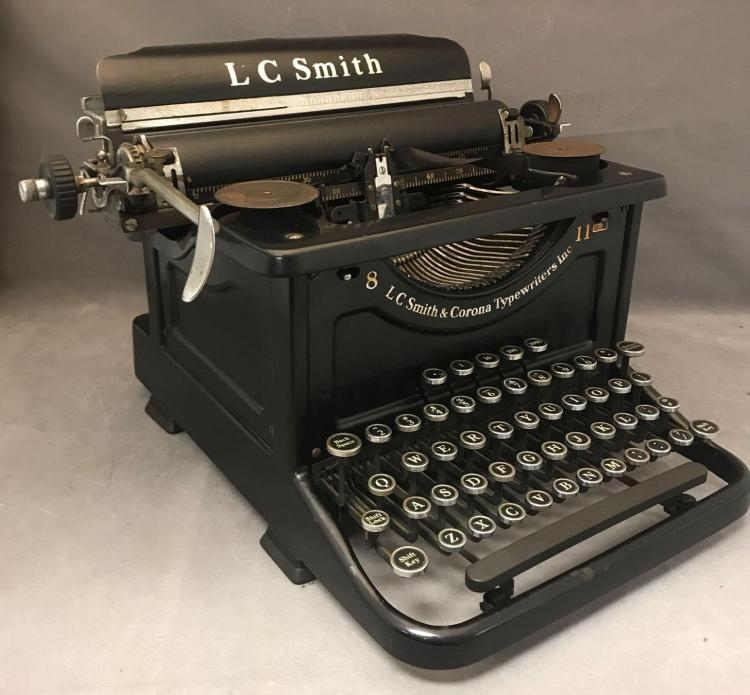 Antique L.C.Smith and Corona Typewriter
