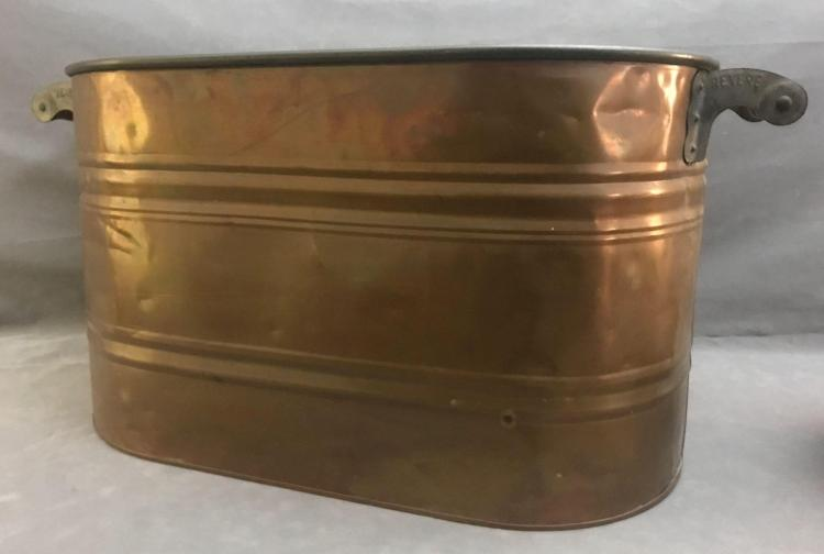 Revere double handled copper boiler wash tub