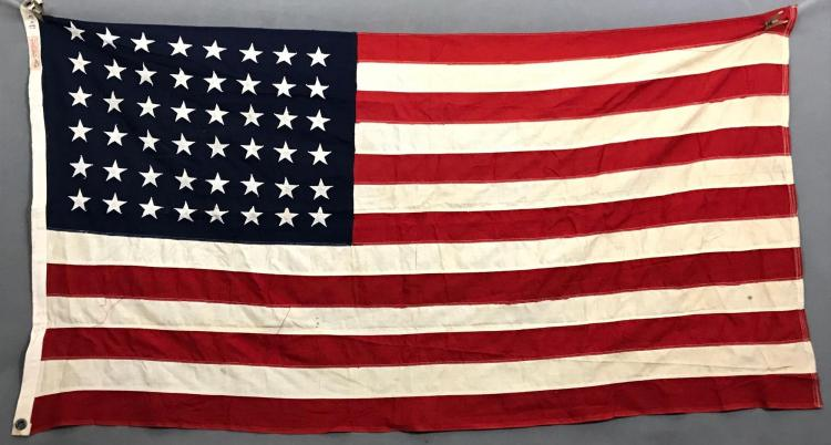 Vintage American 48 star flag, made by Defiance flag company