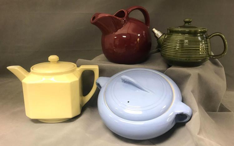 4 mid century ceramic kitchen pots, coorsite, Gibsons, Folgers