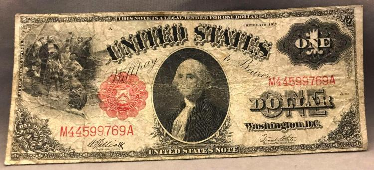 1917 one dollar $1 Red Note