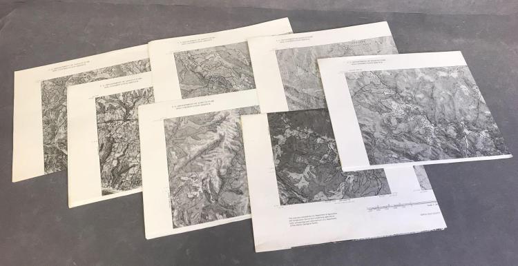 7 Santa Cruz County Department of the Interior geological survey maps