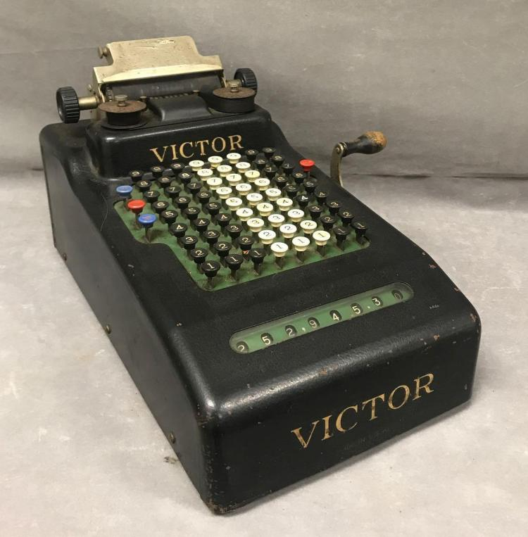 Antique Victor adding machine