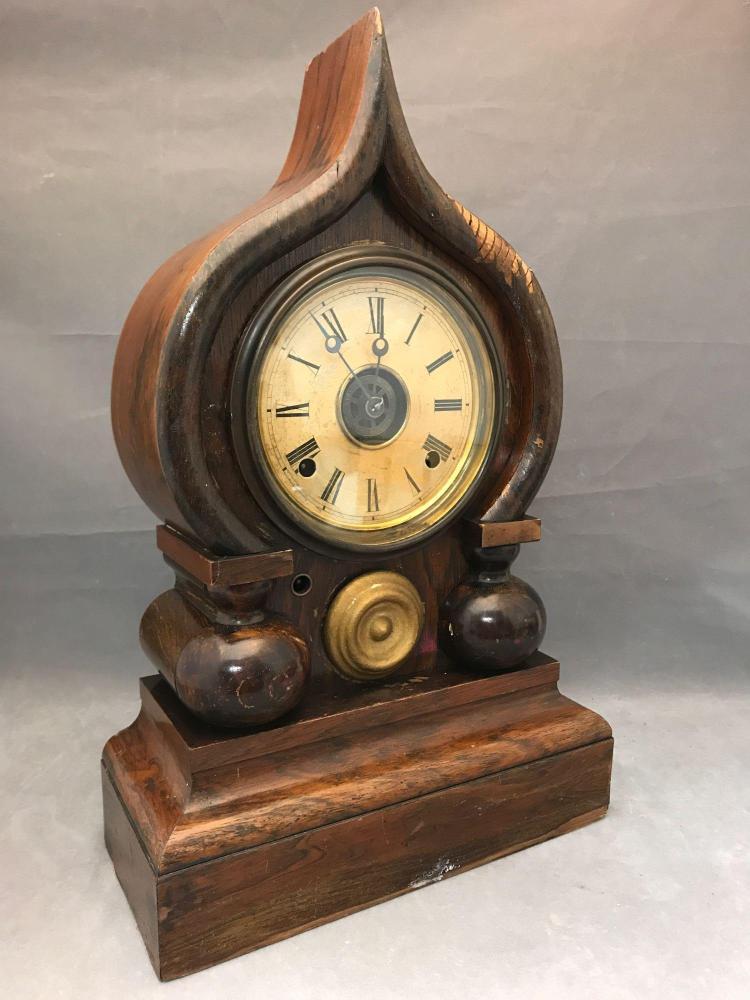 Thorntons Gothic Arcade antique mantle clock
