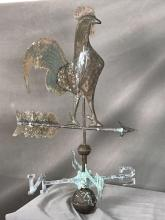 Large copper rooster weather vane
