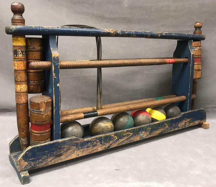 Vintage EZ stow away croquet set