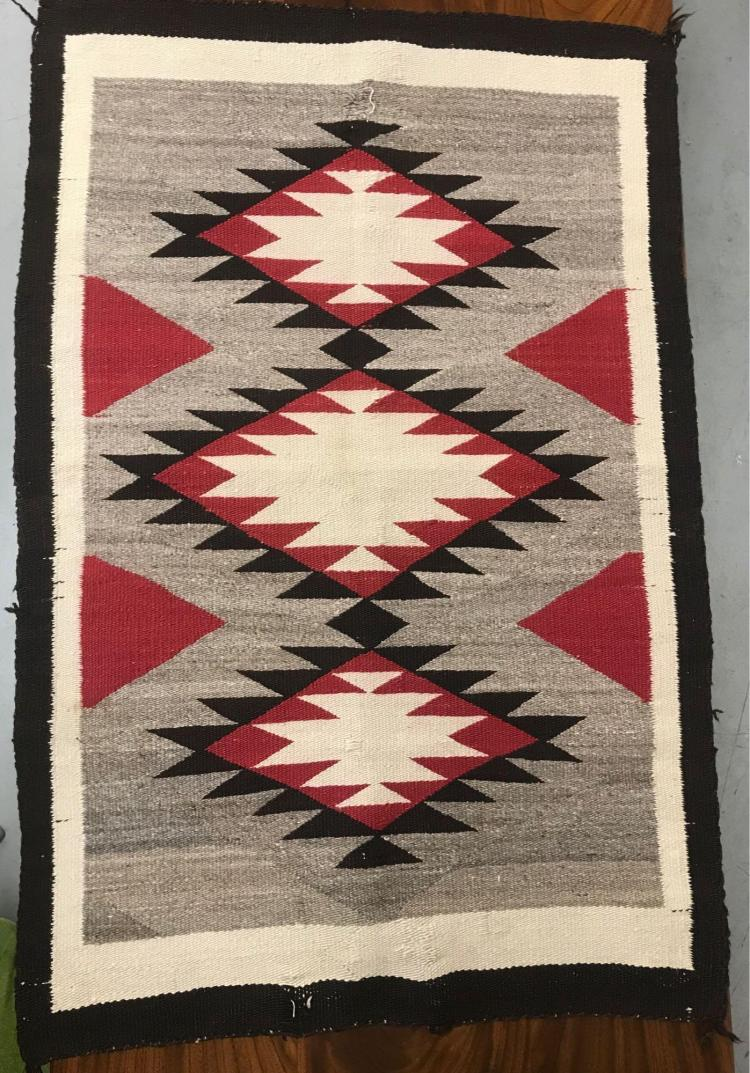 Older Navajo rug with nice geometric design