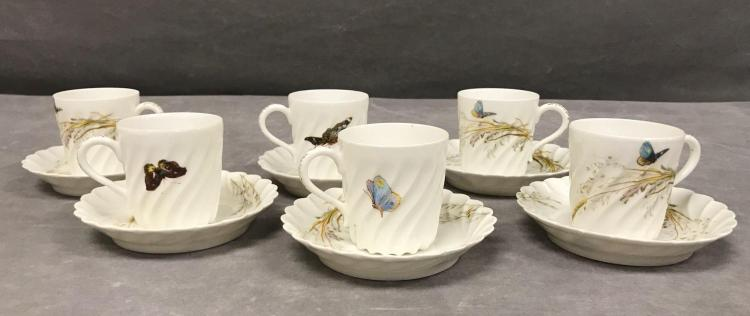 6 Haviland and Co. Limoges demitasse cups and saucers