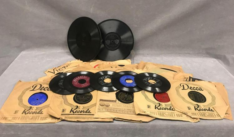 29 records to include 24 78rpm records Edison diamond disc 1/4 thick 80171 and 80228, RCA Victrola