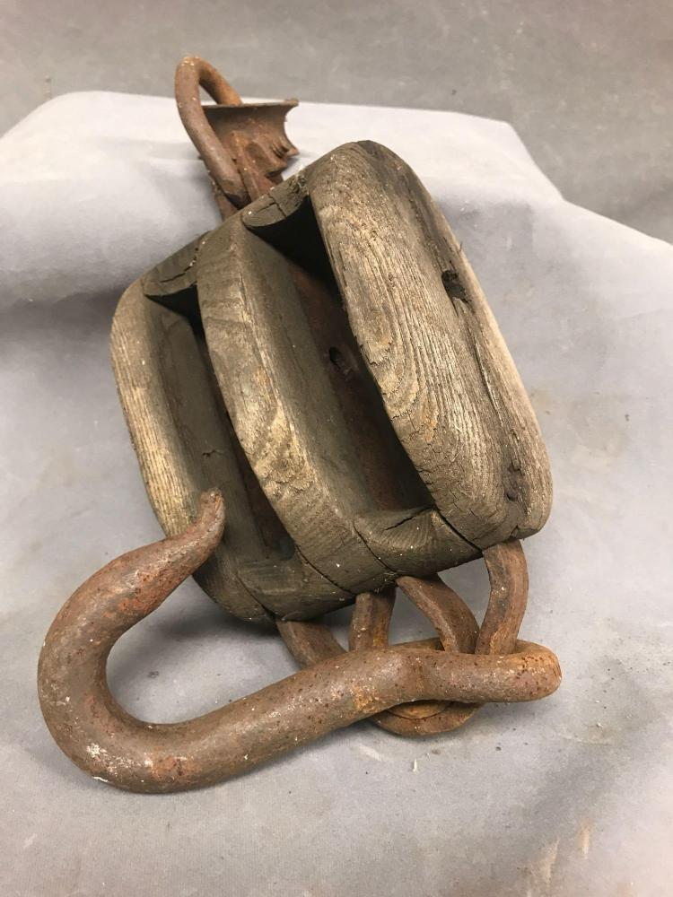 Antique Marine pulley